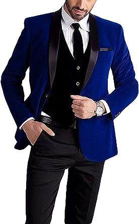 Lilis Mens Fashion 3 Pieces Suit Slim Fit Wedding Suits for Men Groom Tuxedos