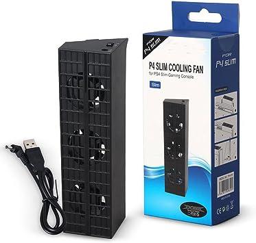 SODIAL para PS4 Slim Refrigeración Ventilador Consola refrigerador ...
