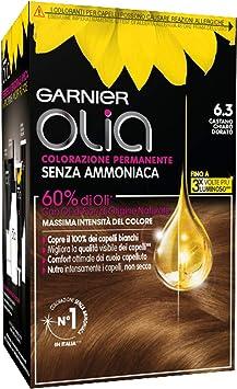 Coloración permanente y decoloración Garnier Olia 6.3 Castano ...