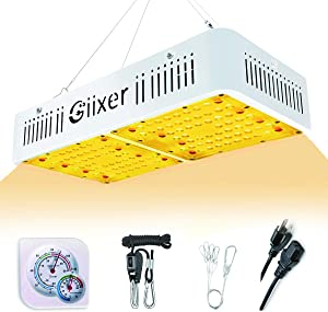 Giixer LED Grow Light 1000W Plus Full Spectrum High PAR Value Simulated Sunlight Plant Light for Hydroponic Indoor Plants Seeding/Growing/Flowering (SMD 128LEDs Optical Lens)