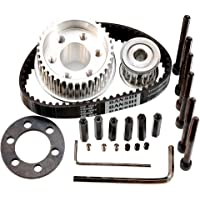 Vanpro®DIY Electric Skateboard 8352,9052,9752 Pulleys Kit set36/18tooth Long Board Small Fish Brush Street Double Kicktail Belt 15MM 5M (Snow Black, Pack of 1)