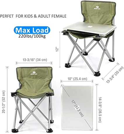 Lightweight Chair 2 Pack Portable Camping Stool Mossy Oak Mini Folding Chair for Kids