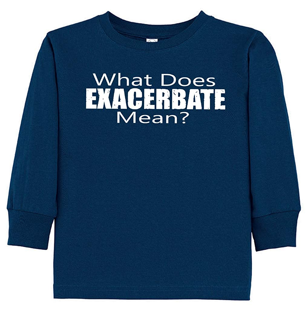Tenacitee Babys What Does Exacerbate Mean Shirt