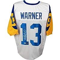 $139 » Kurt Warner Autographed St Louis Rams Custom Football Jersey - BAS COA