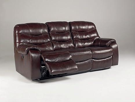 Amazon.com: Borgoña Reclining Potencia sofá – Firma diseño ...