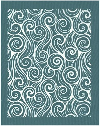 Amazon Com Diy Silk Screen Printing Stencil Ready To Use Curly