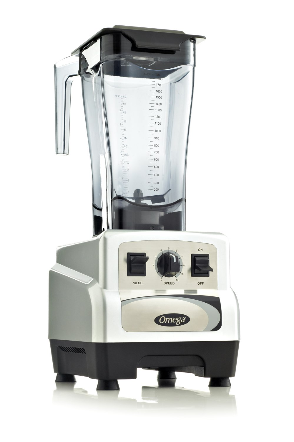 Omega BL460S 3 Peak Horse Power Commercial Blender, Variable Speed with Pulse, 64-Ounce, Silver (Discontinued by Manufacturer)