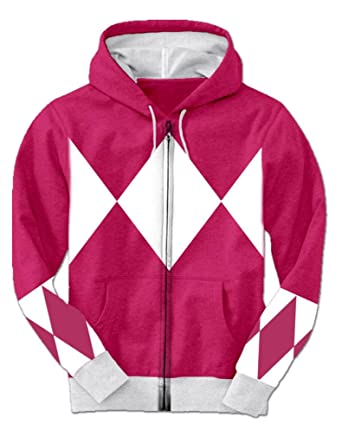 Pink Power Rangers Hooded Costume Sweatshirt (Adult Large)