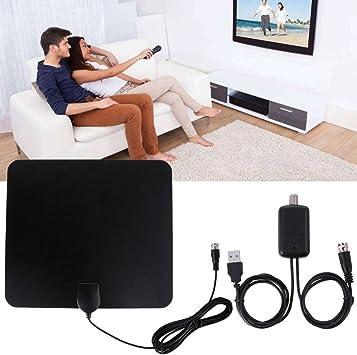 Antena de TV, el más nuevo amplificador amplificador de señal de TV interior 2019 con 4k 181p con HDTV integrado: Amazon.es: Electrónica