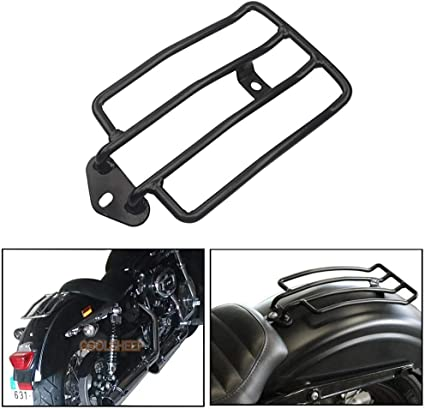 Pnndee Black Motorcycle Solo Seat Luggage Rack Support Shelf for Harley Sportster XL 883 1200 48 2004-2018 2017