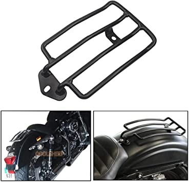 Rear Rack, 2 Color Motorcycle Solo Seat Rear Luggage Rack Support Shelf For XL883//1200 Black