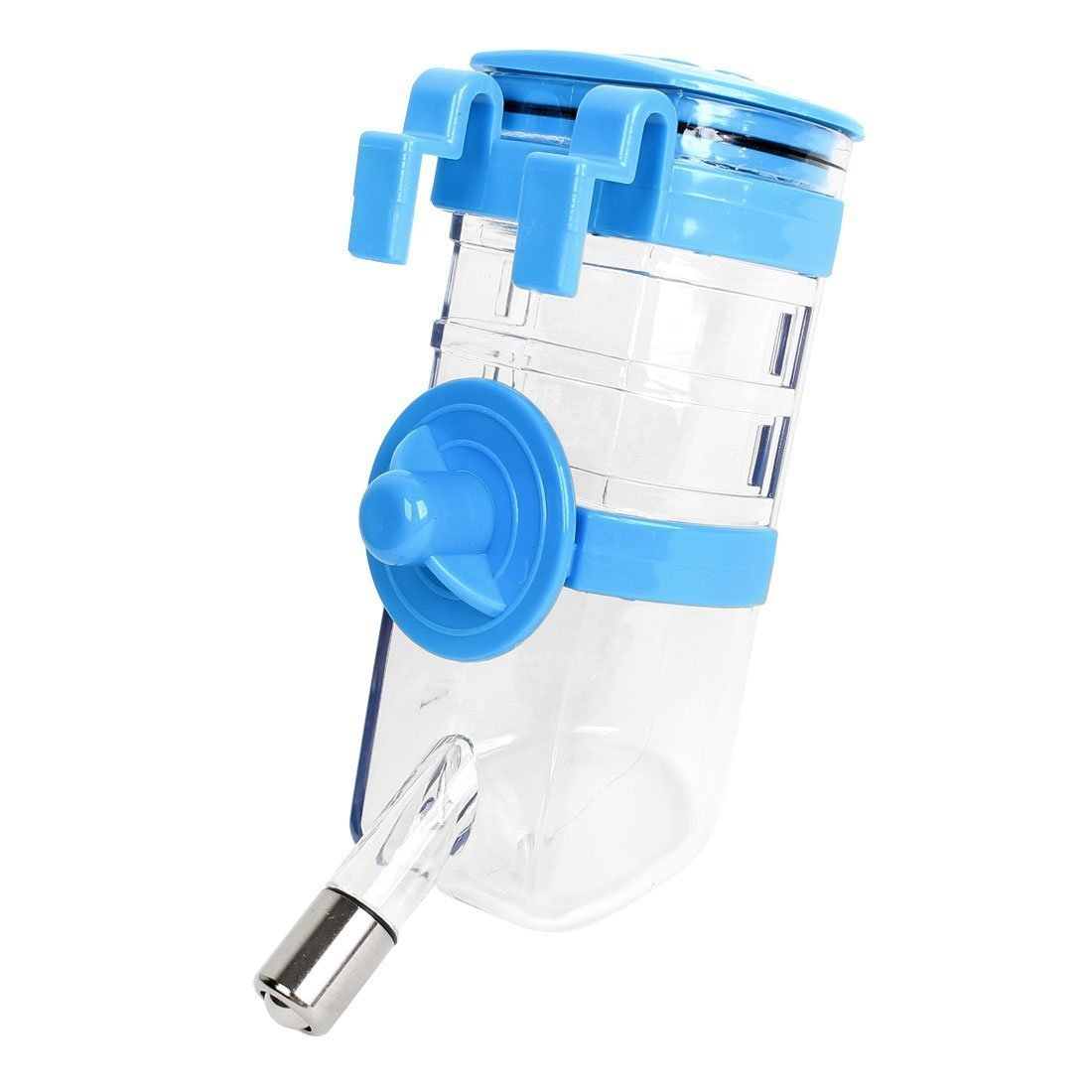 1Pc Plastic Pet Hanging Drinking Water Bottle, Clear