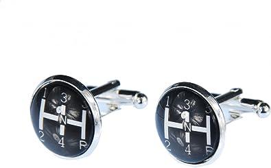 Miniblings Gemelos de Cambio Engranajes del Coche Botones + Caja de Cambio de palillo: Amazon.es: Joyería