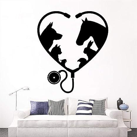 Ventana Etiqueta de la pared Animal Mascota Medicina ...
