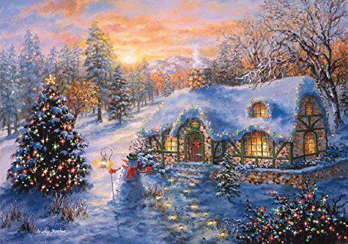 Wentworth Christmas Cottage Miniature 40 Piece Wooden Jigsaw Puzzle