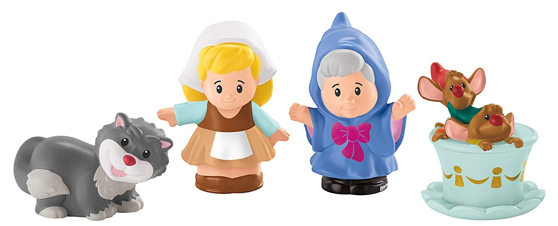 Fisher Price Little People Disney Princess & Friends Figure Set of 4 - Belle, Cinderella, Jasmin & Rapunzel by Disney Princess (Image #5)