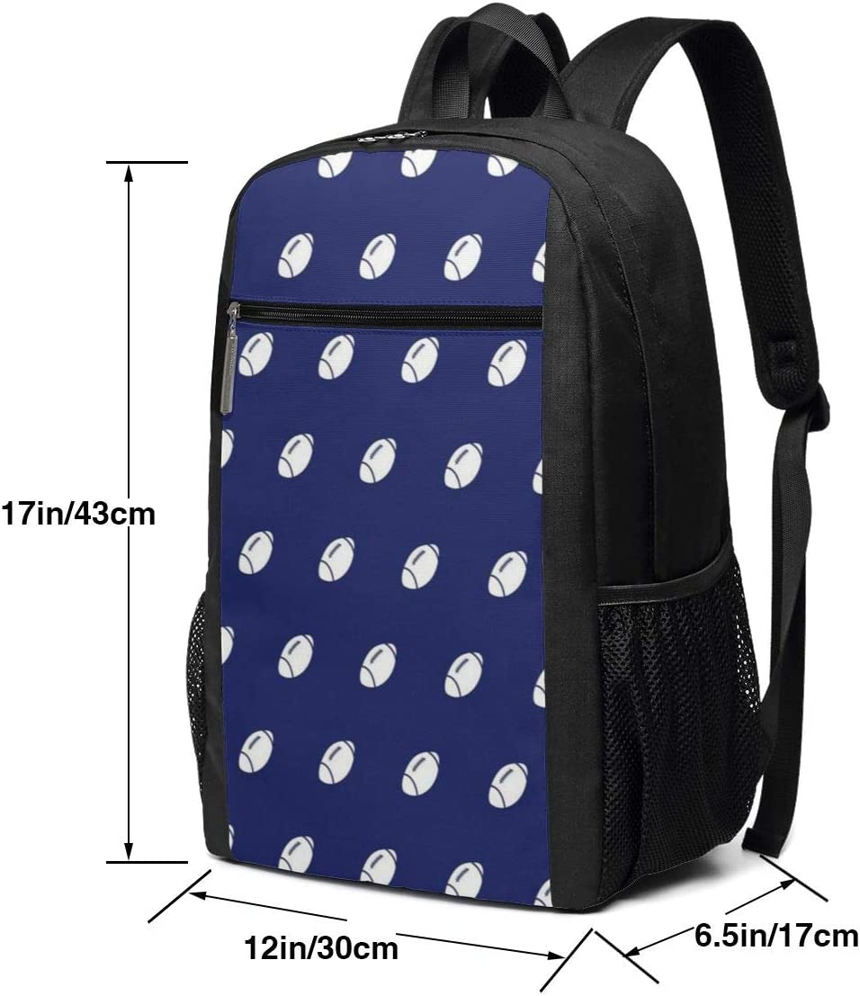 ~ Football 4 Backpack Black Water Resistant College School Computer Bag Gifts for Men /& Women 17in X 12in X 6in Business Durable Laptop Backpack