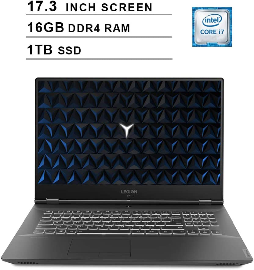Lenovo 2020 Legion Y540 17.3 Inch FHD IPS Gaming Laptop (9th Gen Intel 6-Core i7-9750H up to 4.5 GHz, 16GB RAM, 1TB PCIe SSD, Nvidia GeForce GTX 1660 Ti, Bluetooth, WiFi, HDMI, Windows 10)