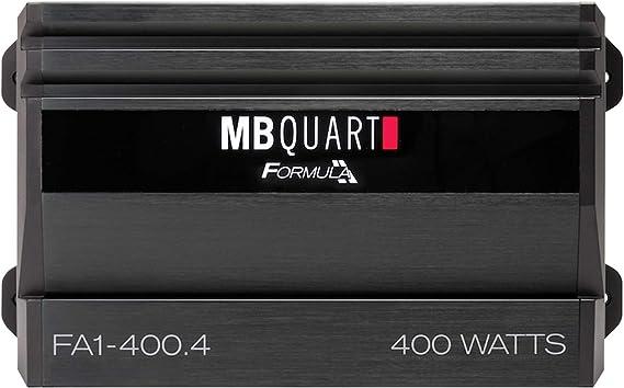 MB Quart XFA14004 Black Formula Series 400-Watt 4-Channel Class AB Amp