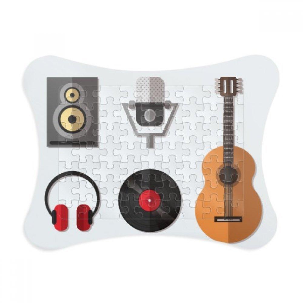 ギターヘッドセットCDマイク音楽パターンペーパーカードゲームパズルフレームジグソーホーム装飾ギフト B0792P2L65 B0792P2L65, きものひろば悠:749b88f7 --- ero-shop-kupidon.ru