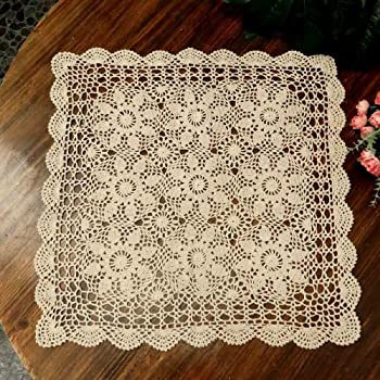 Amazon Yazi Tablecloths Crochet Square Table Cover Lace Table