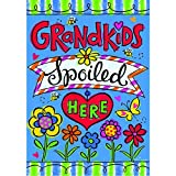 "Cheap ""Grandkids Spoiled Here 2016"" – Summer – STANDARD Size, 28 Inch X 40 Inch, Decorative Double Sided Flag"