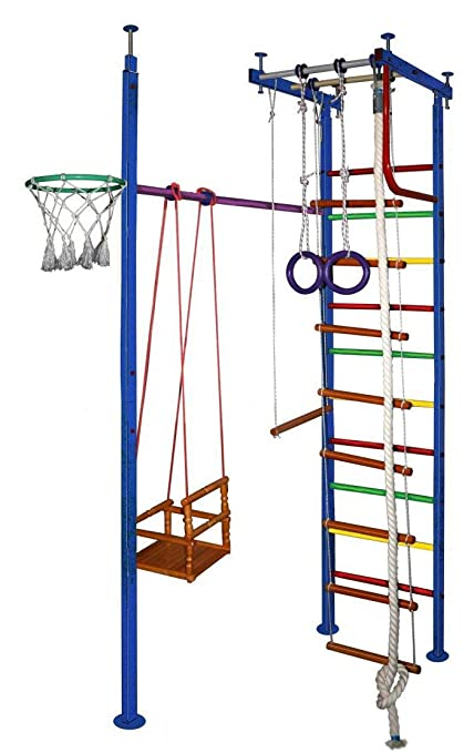 Amazon com: Vertical-10 Kids Indoor Home Gym Swedish Wall