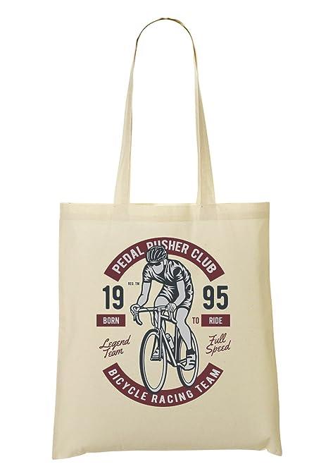 Pedal Pusher Club Bicycle Racing Team Bolso De Mano Bolsa De La Compra   Amazon.es  Zapatos y complementos a7aa362ad8439
