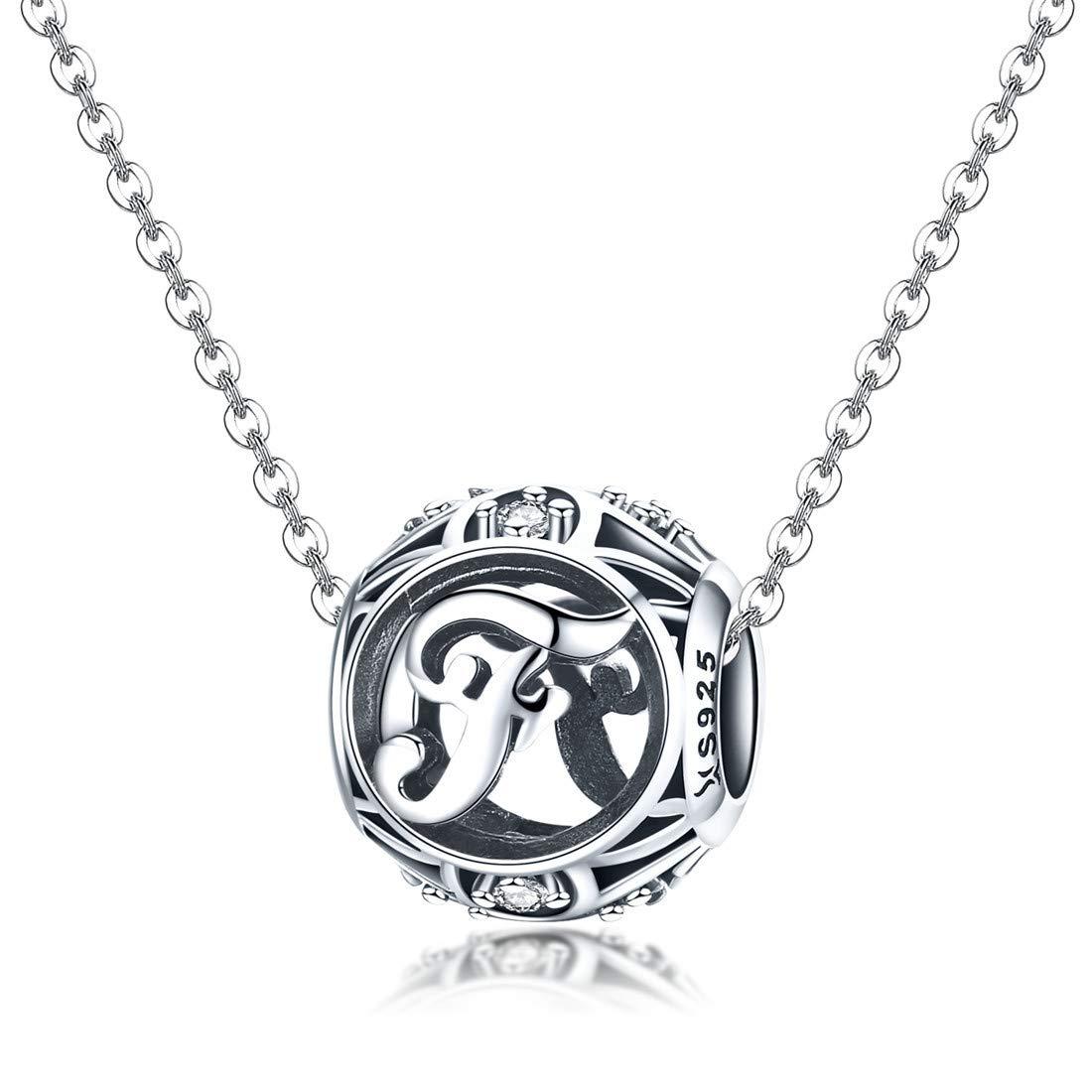 DALARAN Sterling Silber Buchstabe des Alphabets A-Z Charm-Anh/änger f/ür Charms ArmbandMEHRWEG