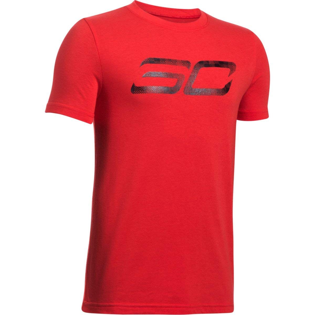 Under Armour Boys' SC30 Logo T-Shirt,Red (600)/Black, Youth X-Large