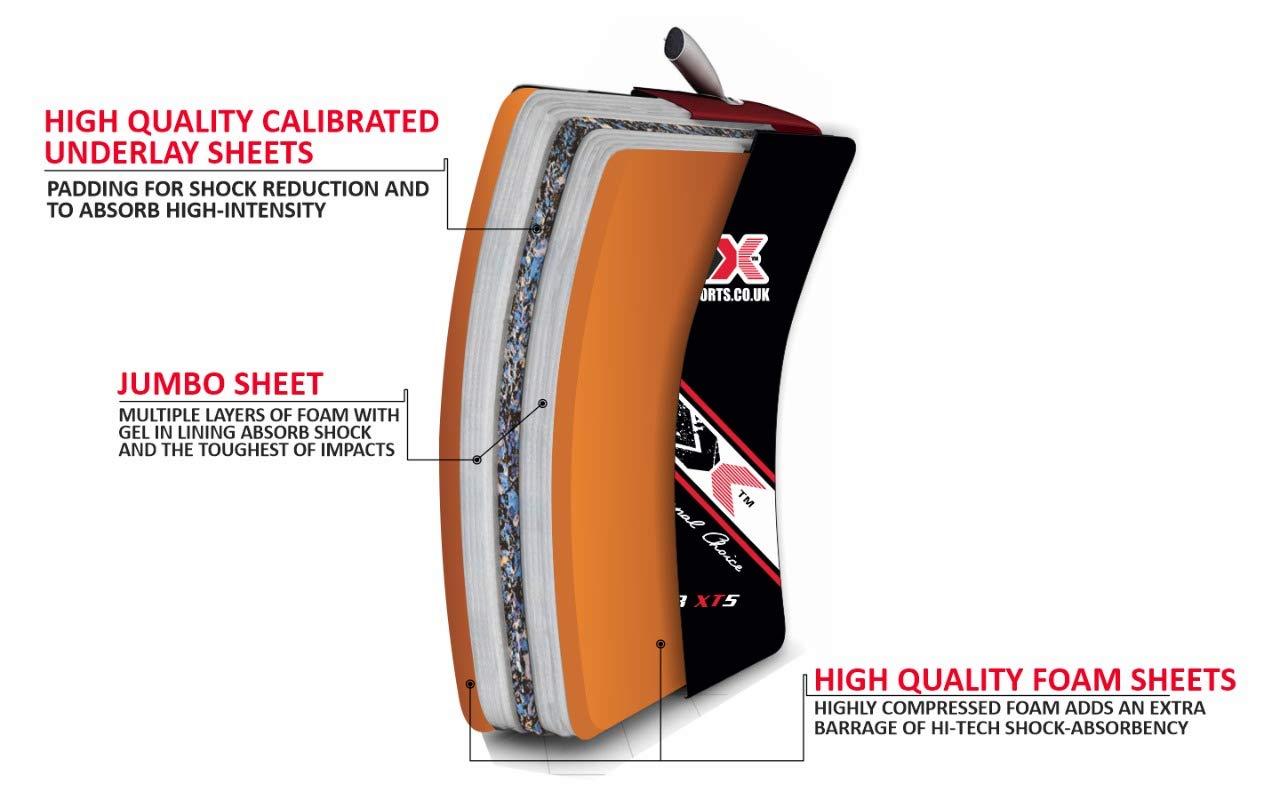 3X Professional Choice Pattes dours Boxe Thai Bouclier Coup Courbe Entra/înement Paos De Frappe Cible Large Le Paquet Contient Une Seule Pi/èce