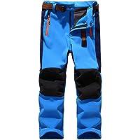 CAMLAKEE Pantalones Senderismo Niño Niña, Pantalon Softshell Impermeable Transpirable Pantalones Trekking Montaña…