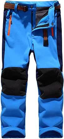 CAMLAKEE Pantalones Senderismo Niño Niña, Pantalon Softshell Impermeable Transpirable Pantalones Trekking Montaña Invierno