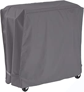 AKEfit Cooler Cart Cover Waterproof Fits Most 80qt Quart Rolling Party Coolers Patio Outdoor Cooler Beverage Cart Ice Chest Gray