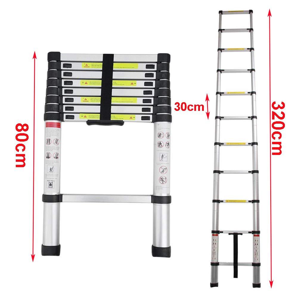 2.5+2.5M Teleskopleiter Mehrzweckleiter A Rahmen /& Gerade Leiter Fingerklemmschutz Stehleitern Auszeihleiter Klappbar Aluleiter Antirutsch bis 150 KG//330 Pfund Belastbarkeit 5M