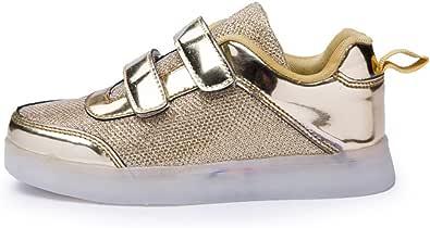 Zapatos Led Niños Niñas 7 Color USB Carga Deportivas De Luces Zapatillas