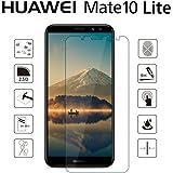 Huawei Mate 10 Lite フィルム,NEKING Mate 10 Lite ガラスフィルム 2018最新版 品質保証 熱彎技術 日本製素材 99.9%極高透過率 業界最高硬度9H/厚さ0.15mm/2.5Dラウンドエッジ「Mate 10 Lite,クリア」