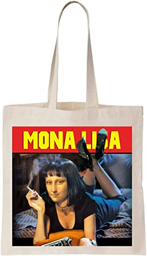 Mia Lisa Pulp Fiction Paroody Algodón Bag Tote Bag: Amazon.es ...