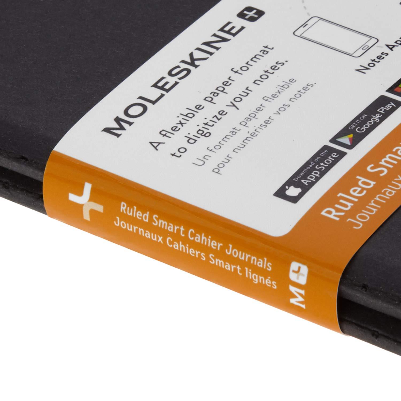 Copertina in Cartoncino Compatibili con Pen+ Moleskine Smart Cahier Journals Set da 2 Cahier Digitali con Pagine Bianche 120 Pagine Nero Formato Extra Large 19 x 25 cm