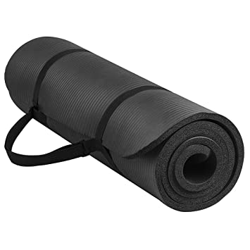 Amazon.com: 1 Set Yoga Mat Extra Thick 1cm Pilates Fitness ...