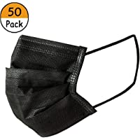 Deppex Individual Package Disposable Earloop Four Layer Activated Carbon Face Mask, Counts 50 (Cool Black)