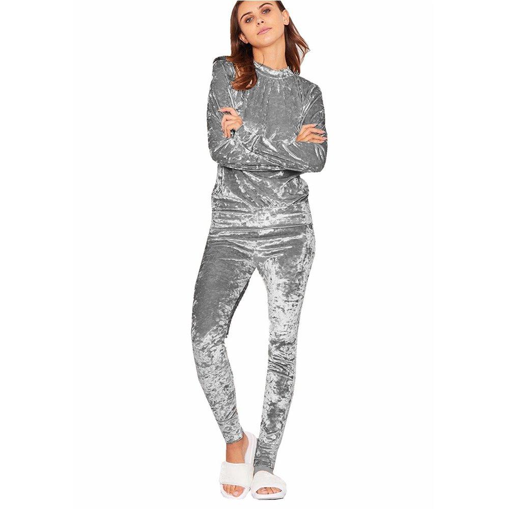 Blush Avenue Ladies Velour Crush Tracksuit Loungewear Joggers Set Plus Size 8-26