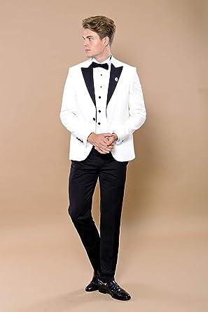 Wessi Slimfit Peak Revers Smoking Tuxedo para Hombre: Amazon ...