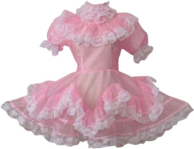 vestido de criada rosa
