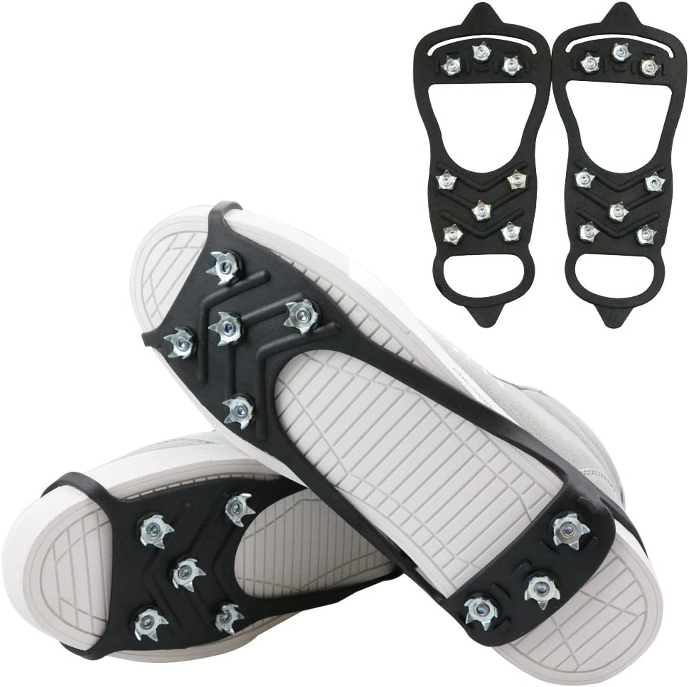 ICE GRIPS UNIVERSAL NON SLIP ON FOR SHOE BOOTS SNOW SPIKES GRIPPERS CLEATS STUDS