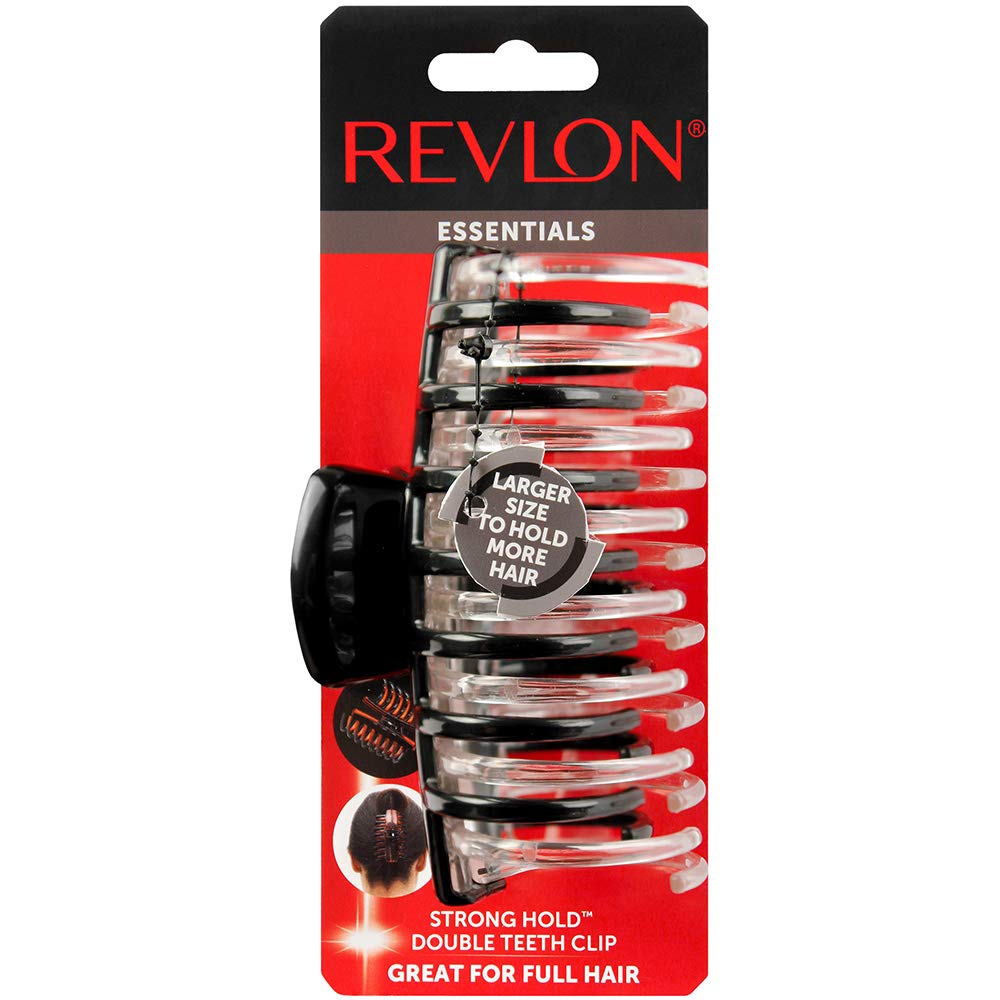 Revlon Strong Hold Hair Claw Clips, 2 Count : Beauty