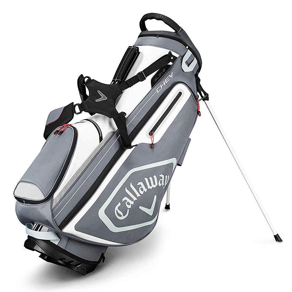 Callaway Golf 2019 Chev Stand Bag, Titanium/White/Silver