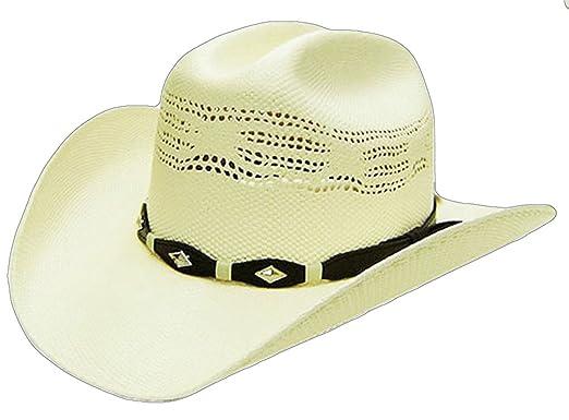 Modestone Boy s Bangora Straw Cowboy Hat Off White   Sizes for Small Heads   3bc6b1446