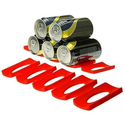 Soporte para Latas de Botellas Portabotellas Silicona Plataforma de nevera Botella y puede facilmente stacker Guizen