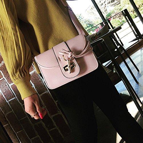 Aoligei Corée version style unique sac à bandoulière tendance fashion PU serrure retro sac sac B